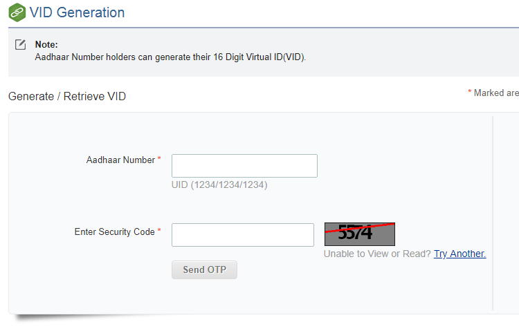 How To Generate Aadhar Card Virtual ID