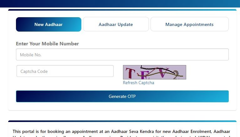 aadhar card appointment book kaise kare